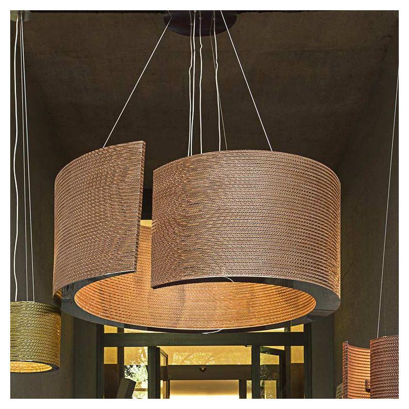 Suspension éco-design coloris bronze @LUCE XXL Staygreen