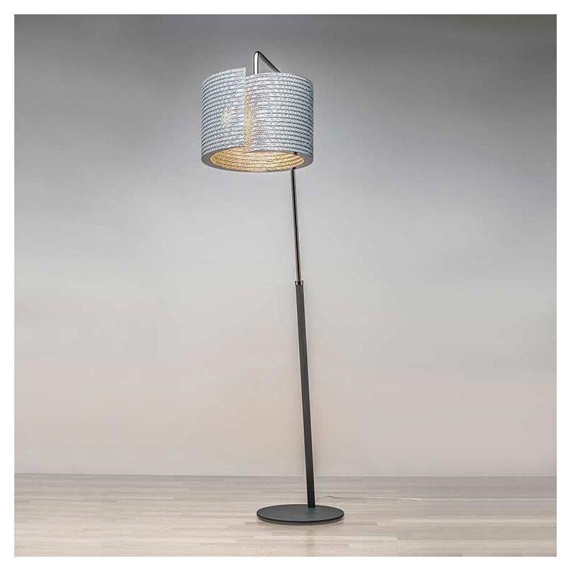 Lampe de sol éco-design SHAPE @LUCE coloris gris Staygreen