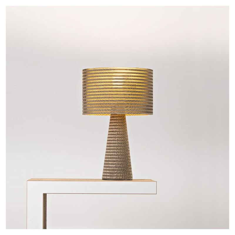 Lampe de table éco-design coloris kraft naturel MISHA Staygreen