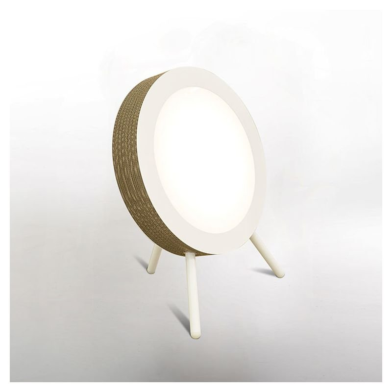 Lampe de sol éco-design en carton cannelé finition coloris kraft naturel MOVIE Staygreen