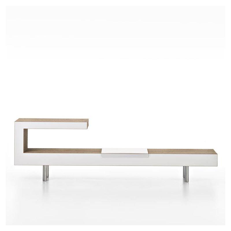 Banc meuble TV eco-design VICTOR Staygreen, coloris kraft naturel