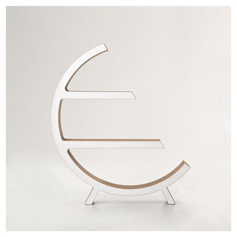Étagère ronde éco-design OLGA Staygreen, coloris kraft naturel, finition MDF blanc