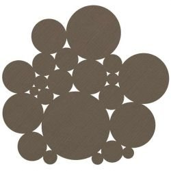 Tapis vinyle intérieur extérieur BUBBLE Dickson-Constant, coloris Cacao U 519