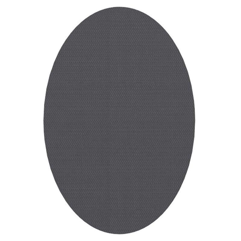 Tapis vinyle ovale intérieur/extérieur ELLIPSE Dickson, coloris Carbone U 517