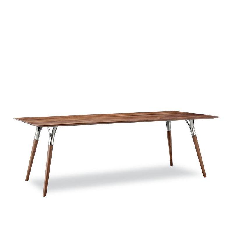 Table rectangulaire SALT & PEPPER Tonon, piètement acier inox brillant