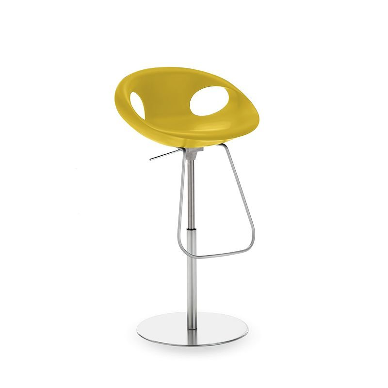 Chaise de bar hauteur réglable UP STOOL Tonon, coloris jaune