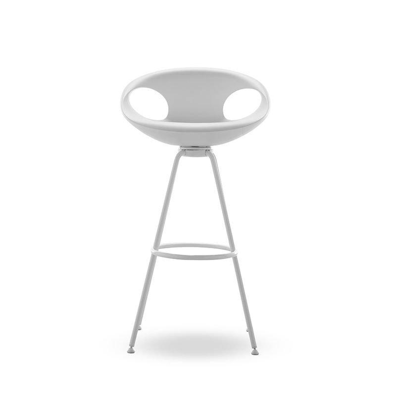 Chaise de bar fixe UP STOOL Tonon, coloris blanc