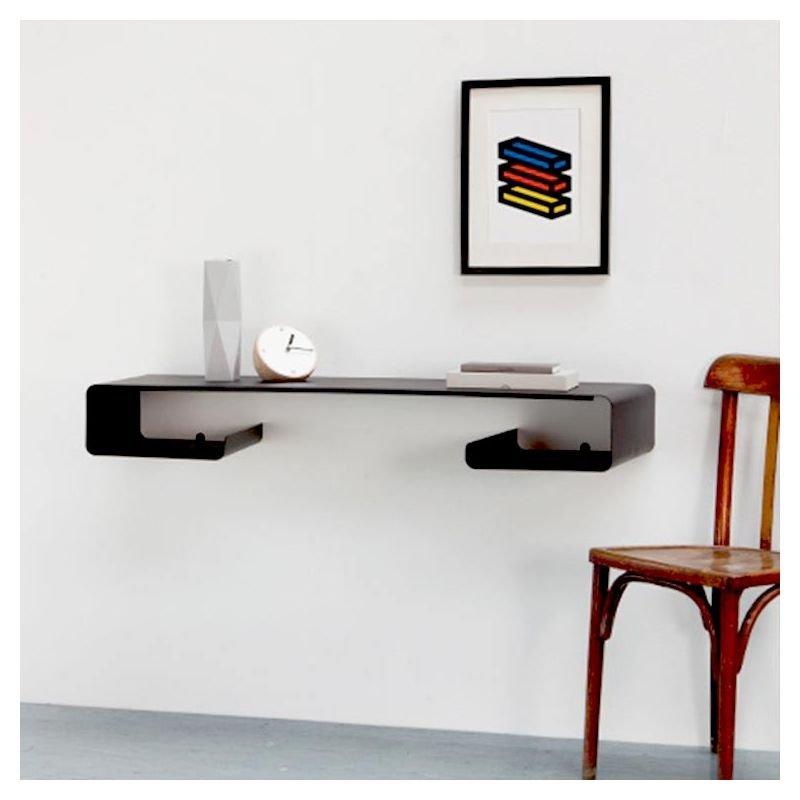 Bureau mural console design coloris noir MOEBIUS Coco & Co