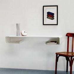 Bureau mural console design coloris blanc MOEBIUS Coco & Co