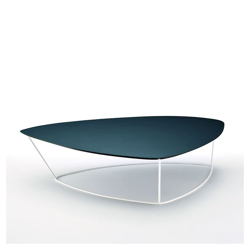 Guapa Ct L Table Basse Design Metal Dessus Cuir Midj