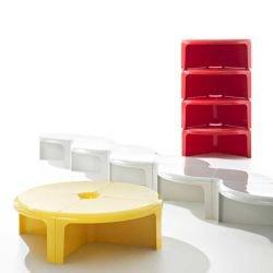 4/4 B-Line utilisée en étagère, table ronde ou chemin de table basse