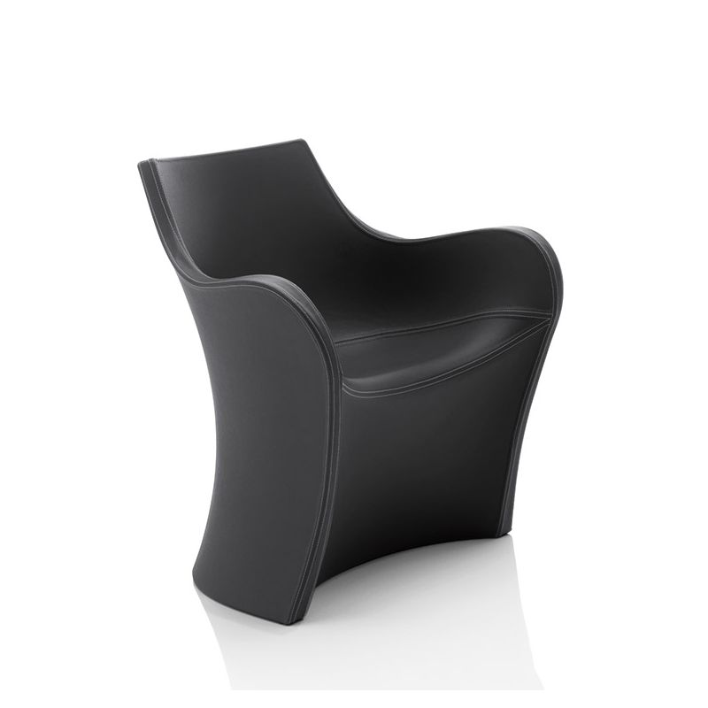 Fauteuil simili-cuir WOOPY B-Line, coloris noir Platinum
