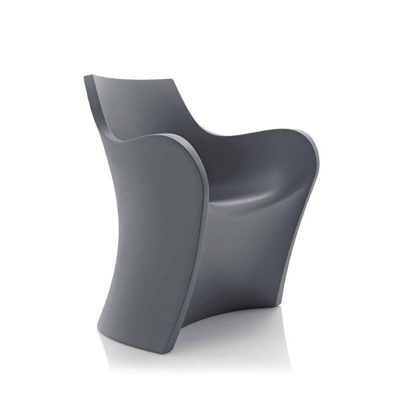 Fauteuil indoor outdoor WOOPY B-Line, polyéthylène coloris gris basalte