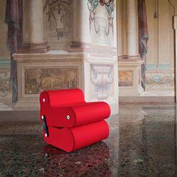 Fauteuil modulable MULTICHAIR B-Line, coloris rouge