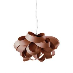 Suspension AGATHA Small LZF, finition hêtre chocolat