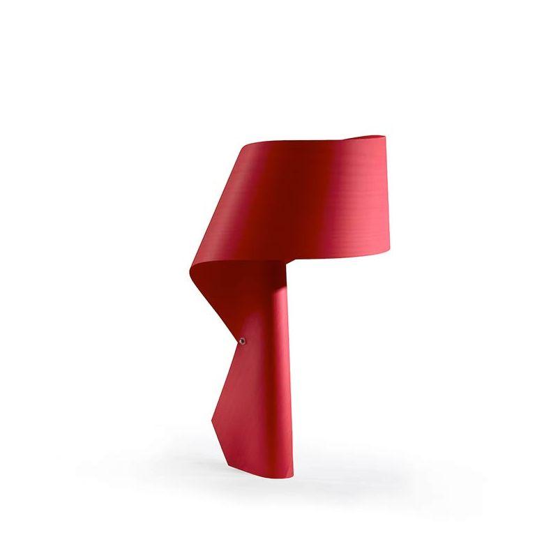 Lampe de table design AIR LZF, finition hêtre rouge