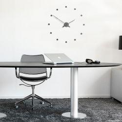Horloge design RODON T graphite Nomon, 12 repères horaire
