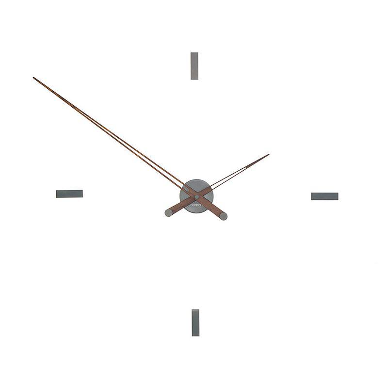 Horloge design TACON T Nomon acier graphite, 4 repères