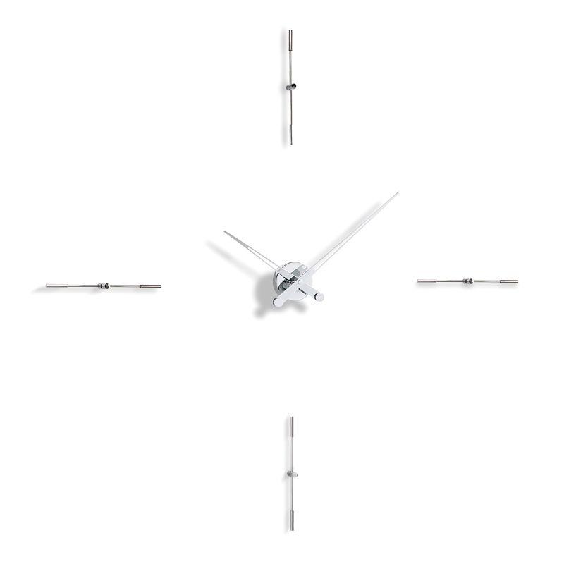 Horloge design en acier  MERLIN i 4 repères horaire Nomon