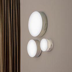 Appliques design LED GEA LZF, hêtre gris, modèles small, medium et large