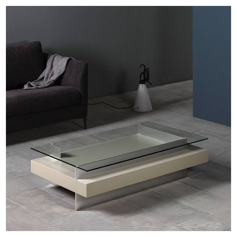 Table basse rectangulaire KETEL Kendo laquée pierre