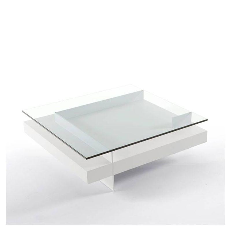 Table basse carrée KETEL Kendo, finition laqué blanc