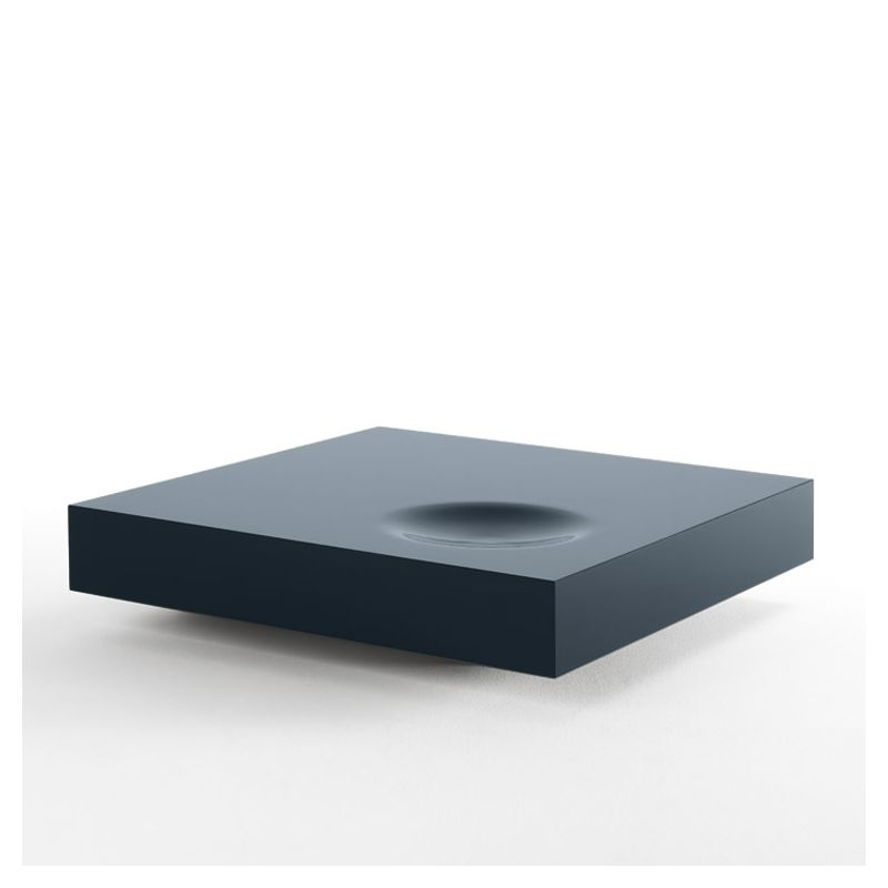 Table basse carrée PLAT Kendo, laquée océan