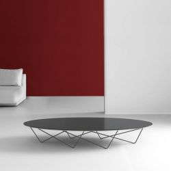 Table basse ovale YOHSI Kendo laquée graphite