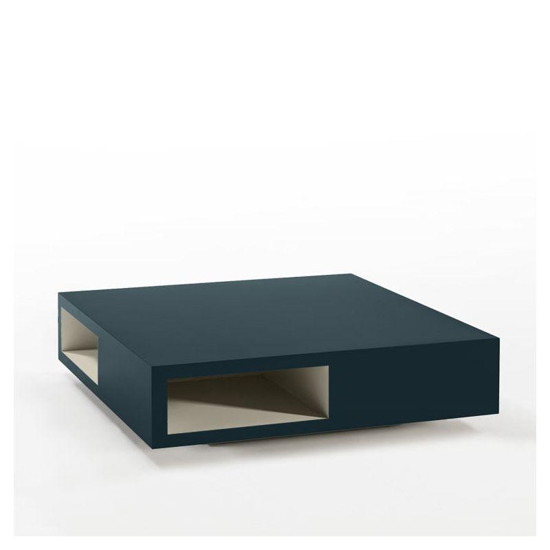Table basse carrée océan VERA Kendo, niche laquée sable