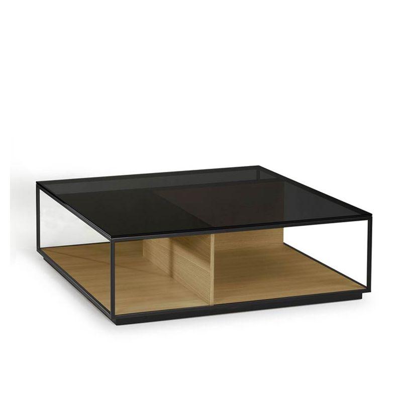 Table basse carrée RITA Kendo, finition chêne naturel