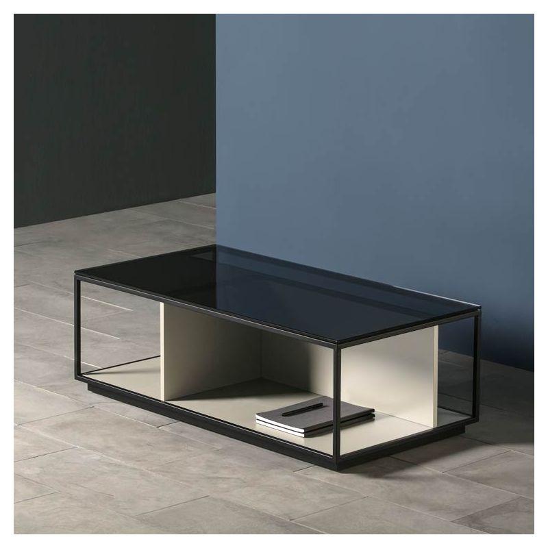Table basse rectangulaire RITA Kendo, finition laqué sable