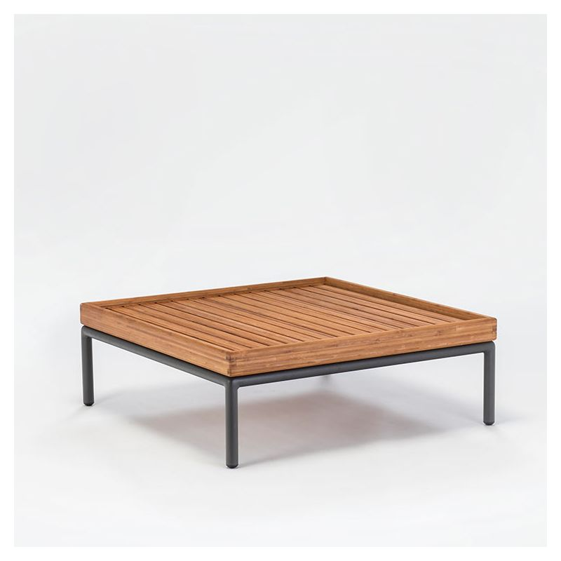 Level Table Basse Exterieure Houe Carree Bambou Alu