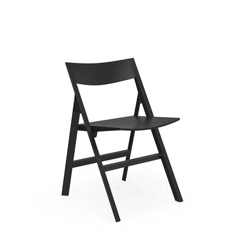 Chaise pliante outdoor QUARTZ Vondom, coloris noir
