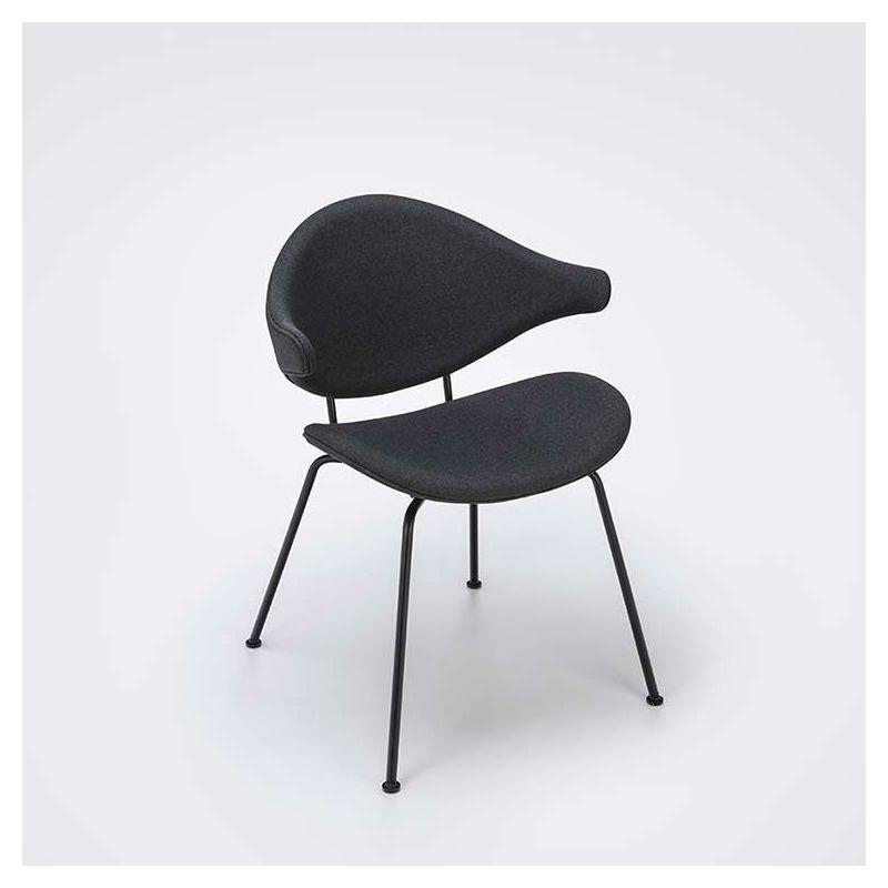 Fauteuil design métal noir & tissu ACURA Houe