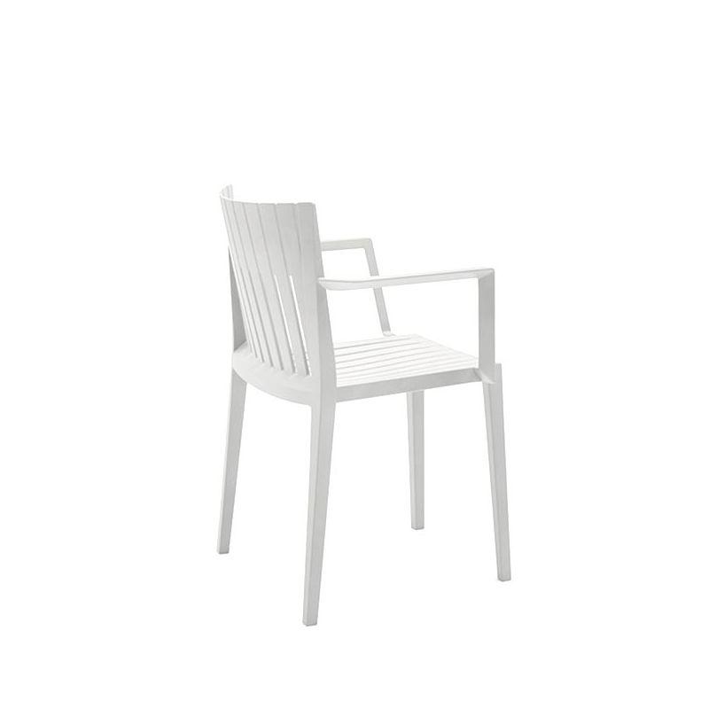 Chaise d'extérieure à accoudoirs blanche SPRITZ Vondom