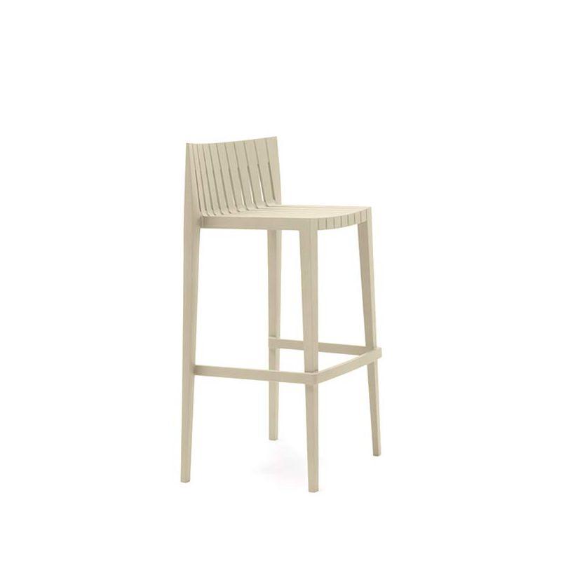 Chaise de bar SPRITZ Vondom hauteur 76 cm écrue