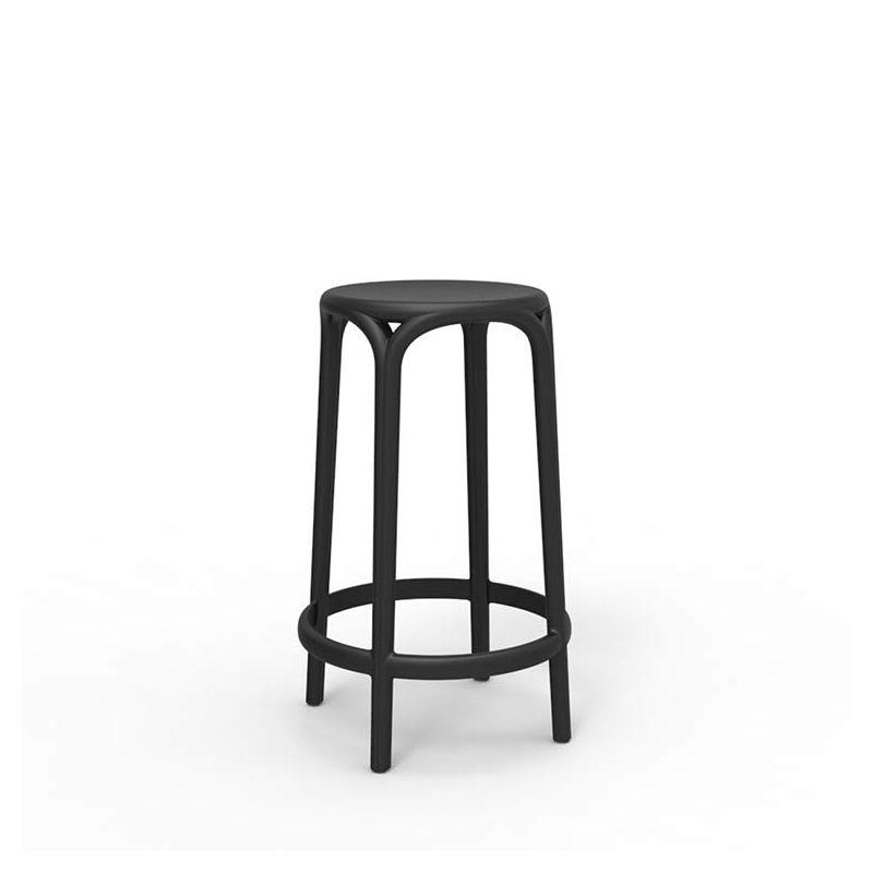 Tabouret de bar noir BROOKLYN Vondom, hauteur 66 cm