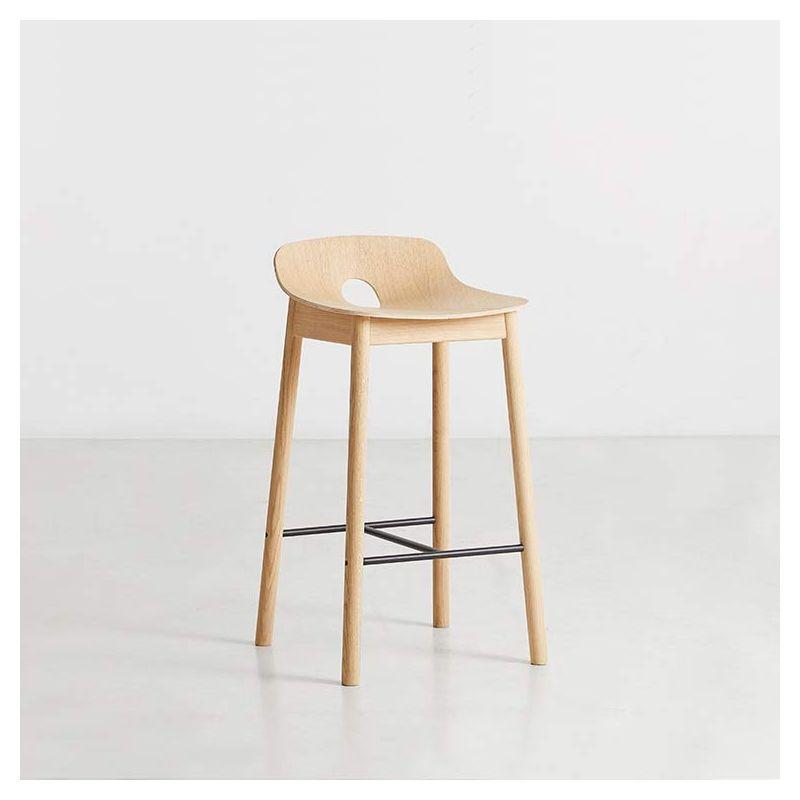 Chaise de bar MONO Woud, chêne naturel, assise 65 cm
