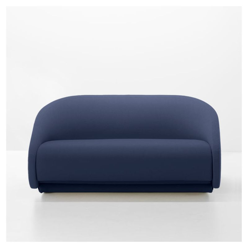 Canapé 2 places convertible UP-LIFT Prostoria, tissu bleu denim 42