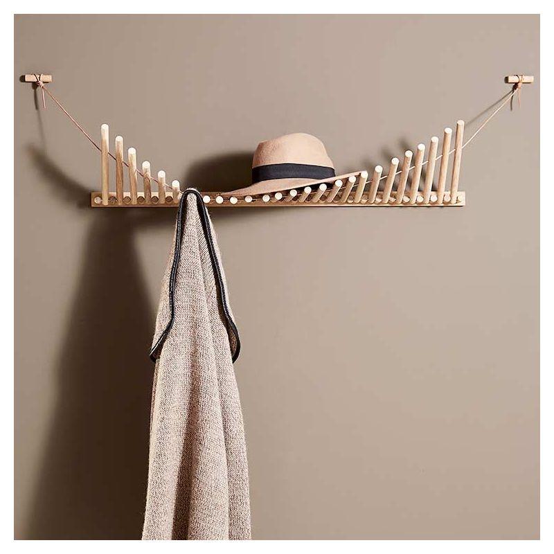 Etagère à chapeaux porte-manteau design KNAEGT Woud