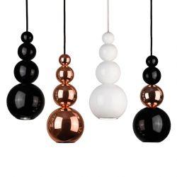 Suspensions BUBBLE Innermost, noir brillant, cuivre, blanc brillant et noir/cuivre