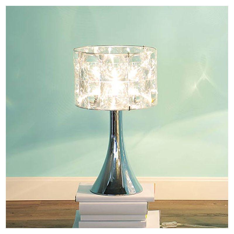Lampe de table LIGHTHOUSE Innermost avec pied TRUMPET 35 chromé