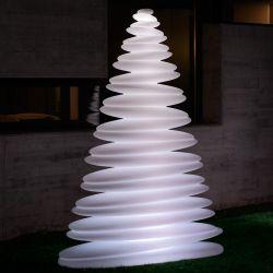 Sapin design lumineux CHRISMY hauteur 2m Vondom, lumière LED blanche