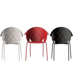 Fauteuils extérieusr VASES  Vondom coloris blanc, rouge et noir