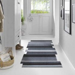 Tapis de couloir DANCING STEPS noir Wash and Dry
