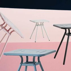 Table de jardin carrée RAY CAFE Woud