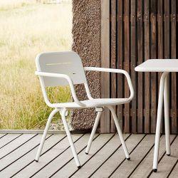 Fauteuil de jardin RAY Woud en aluminium blanc