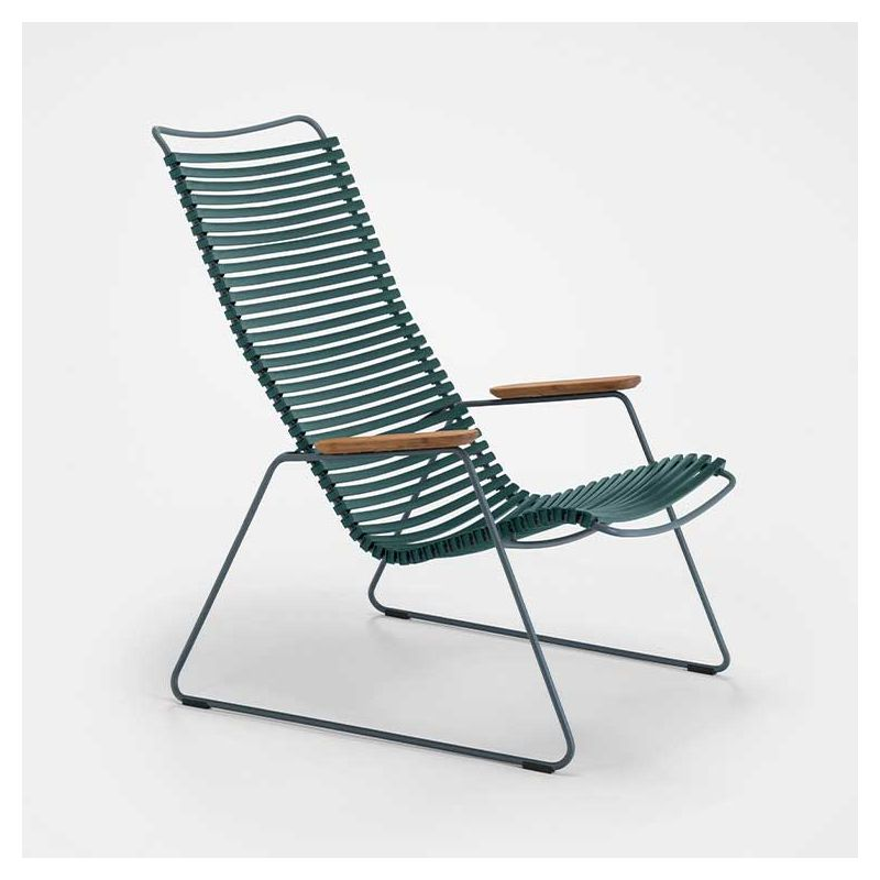Chaise longue coloris vert pin CLICK Houe