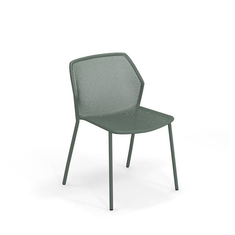 Chaise de jardin empilable vert foncé DARWIN Emu