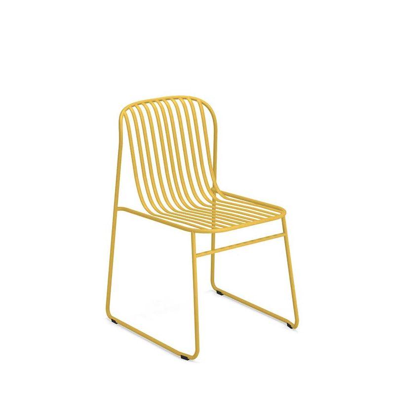 Chaise de jardin jaune curry RIVIERA Emu